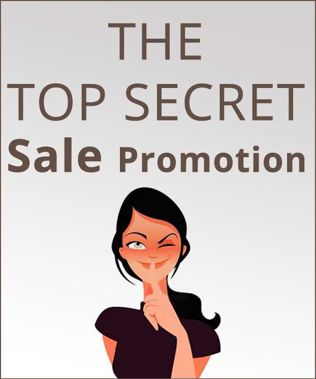 Top Secret Sale Promotion
